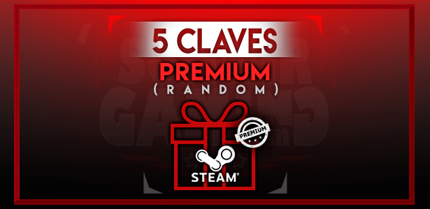 5 CD-Key Aleatoria PREMIUM Para Steam (Producto Digital)